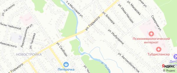 Водоподъемная 2-я улица на карте Ишимбая с номерами домов