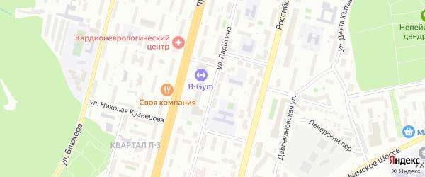 Улица Ладыгина на карте Уфы с номерами домов