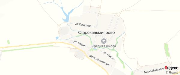 Карта села Старокальмиярово в Башкортостане с улицами и номерами домов