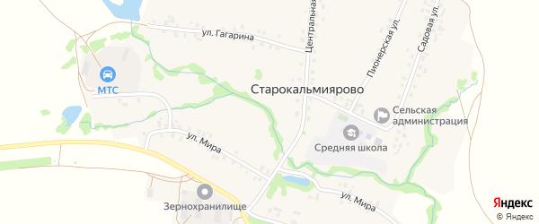 Автопарковая улица на карте села Старокальмиярово с номерами домов