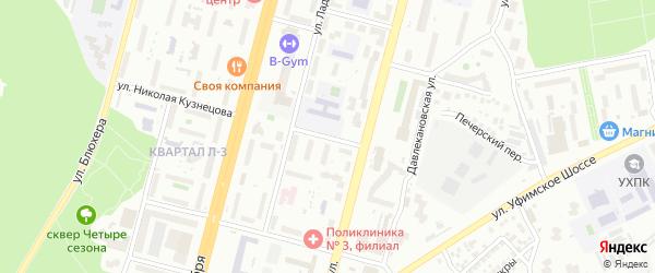 Депутатская улица на карте Уфы с номерами домов