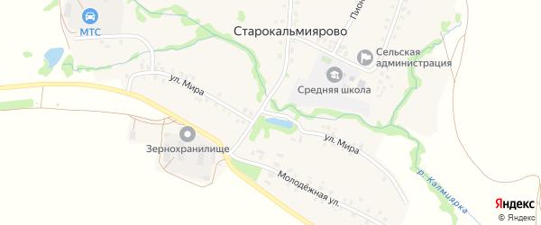 Улица Мира на карте деревни Петропавловки с номерами домов