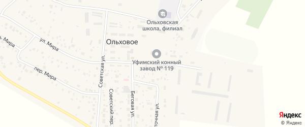 Улица Буденного на карте Ольхового села с номерами домов