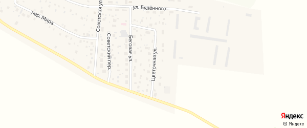 Цветочная улица на карте Ольхового села с номерами домов
