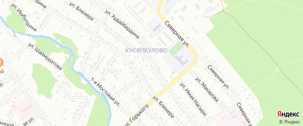 Улица Худайбердина на карте Ишимбая с номерами домов