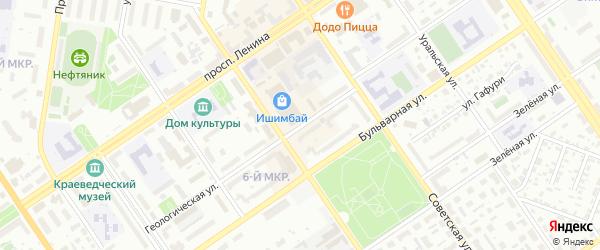 Геологическая улица на карте Ишимбая с номерами домов