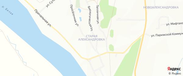 Карта деревни Александровки города Уфы в Башкортостане с улицами и номерами домов