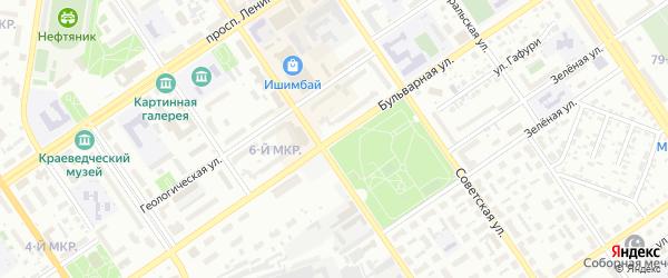 Бульварная улица на карте Ишимбая с номерами домов