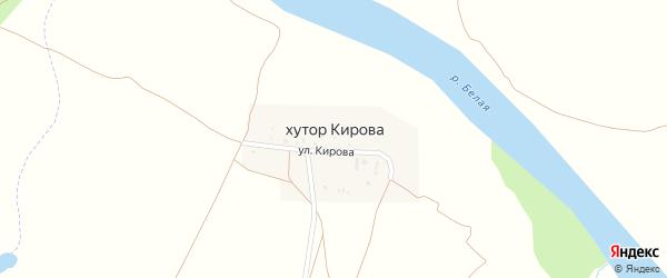 Улица Кирова на карте хутора Кирова с номерами домов