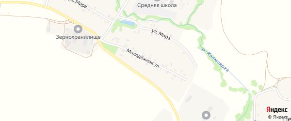 Молодежная улица на карте села Старокальмиярово с номерами домов