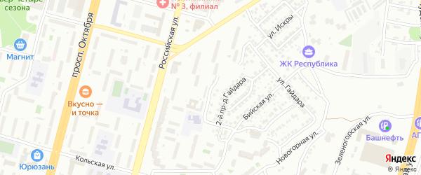 Балхашская улица на карте Уфы с номерами домов
