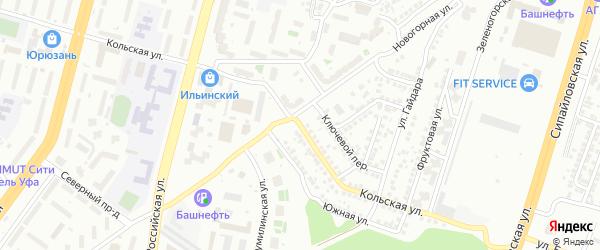 Кольская улица на карте Уфы с номерами домов