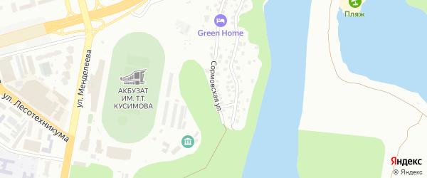 Сормовская улица на карте Уфы с номерами домов