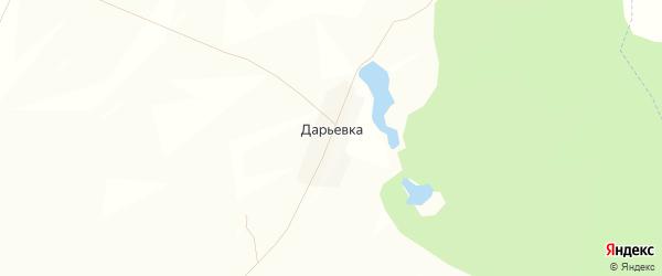 Карта деревни Дарьевки в Башкортостане с улицами и номерами домов