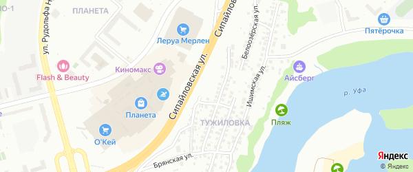 Улица Мамина-Сибиряка на карте Уфы с номерами домов