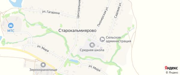 Советская улица на карте села Старокальмиярово с номерами домов