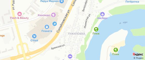 Балашовская улица на карте Уфы с номерами домов