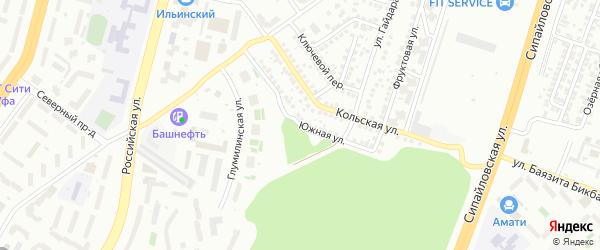 Южная улица на карте Уфы с номерами домов