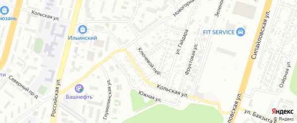 Ключевой переулок на карте Уфы с номерами домов