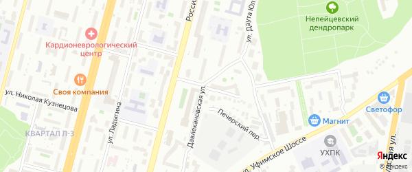 Хабаровская улица на карте Уфы с номерами домов