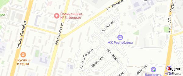 Тихий проезд на карте Уфы с номерами домов