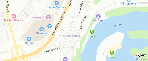 Белоозерская улица на карте Уфы с номерами домов