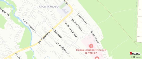 Улица Имая Насыри на карте Ишимбая с номерами домов