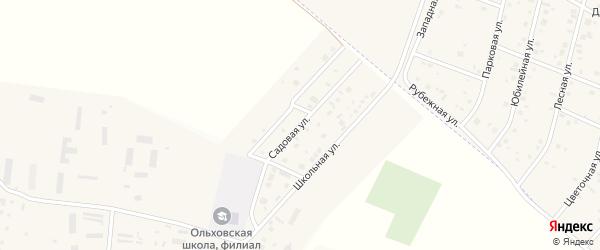 Садовая улица на карте Ольхового села с номерами домов