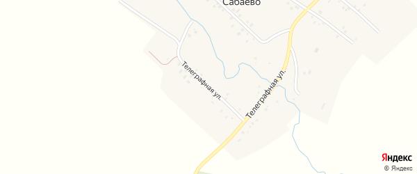Телеграфная улица на карте деревни Сабаево с номерами домов