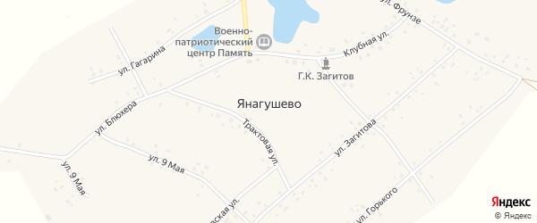 Улица Г.Загитова на карте села Янагушево с номерами домов