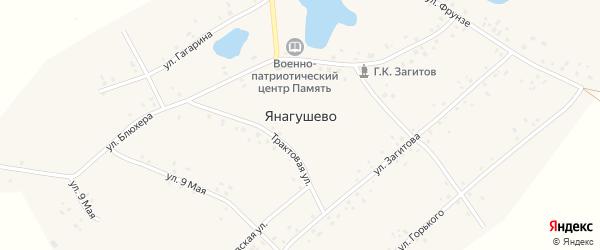 Степная улица на карте села Янагушево с номерами домов