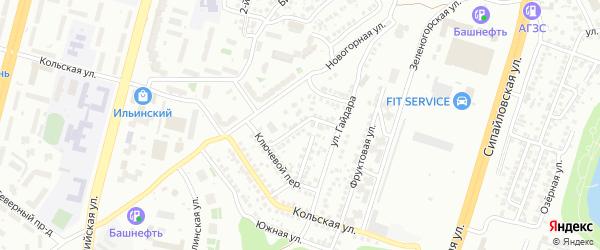 Крутой переулок на карте Уфы с номерами домов
