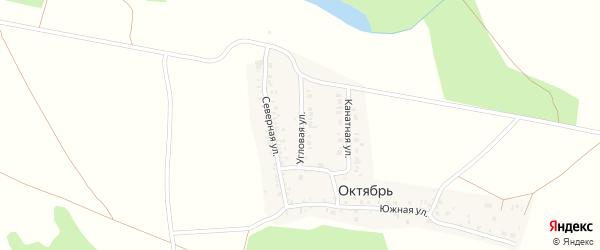 Угловая улица на карте деревни Октября с номерами домов