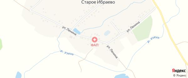 Улица Ленина на карте деревни Старого Ибраево с номерами домов