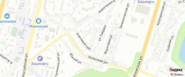 Кабардинская улица на карте Уфы с номерами домов