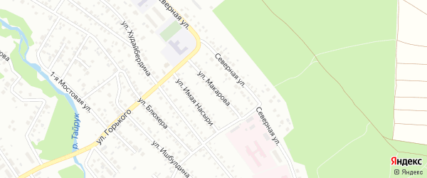 Улица Макарова на карте Ишимбая с номерами домов
