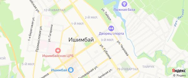СНТ Калинина на карте Ишимбая с номерами домов