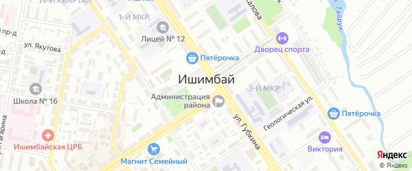 Улица А.Хамидуллина на карте Ишимбая с номерами домов