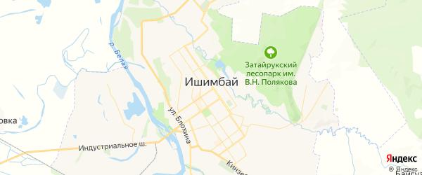 Карта Ишимбая с районами, улицами и номерами домов