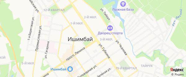 СНТ Городской союз садоводов на карте Ишимбая с номерами домов
