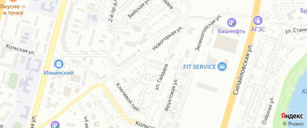 Верхоянская улица на карте Уфы с номерами домов