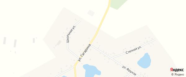 Улица Гагарина на карте села Янагушево с номерами домов