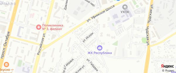 Улица Искры на карте Уфы с номерами домов