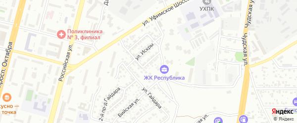 Искры 2-й проезд на карте Уфы с номерами домов