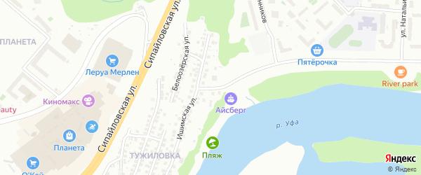 Паромная улица на карте Уфы с номерами домов