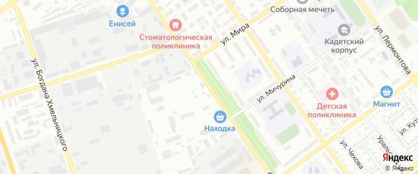 Стахановская улица на карте Ишимбая с номерами домов