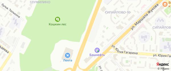 Сипайловская улица на карте Уфы с номерами домов