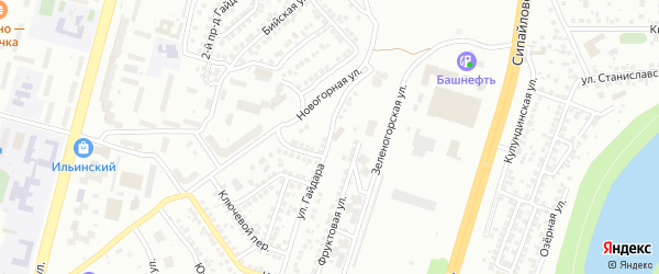 Улица Гайдара на карте Уфы с номерами домов
