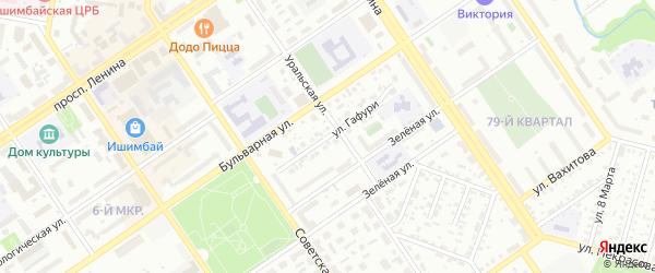 Улица Гафури на карте Ишимбая с номерами домов