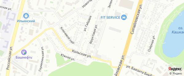 Фруктовая улица на карте Уфы с номерами домов